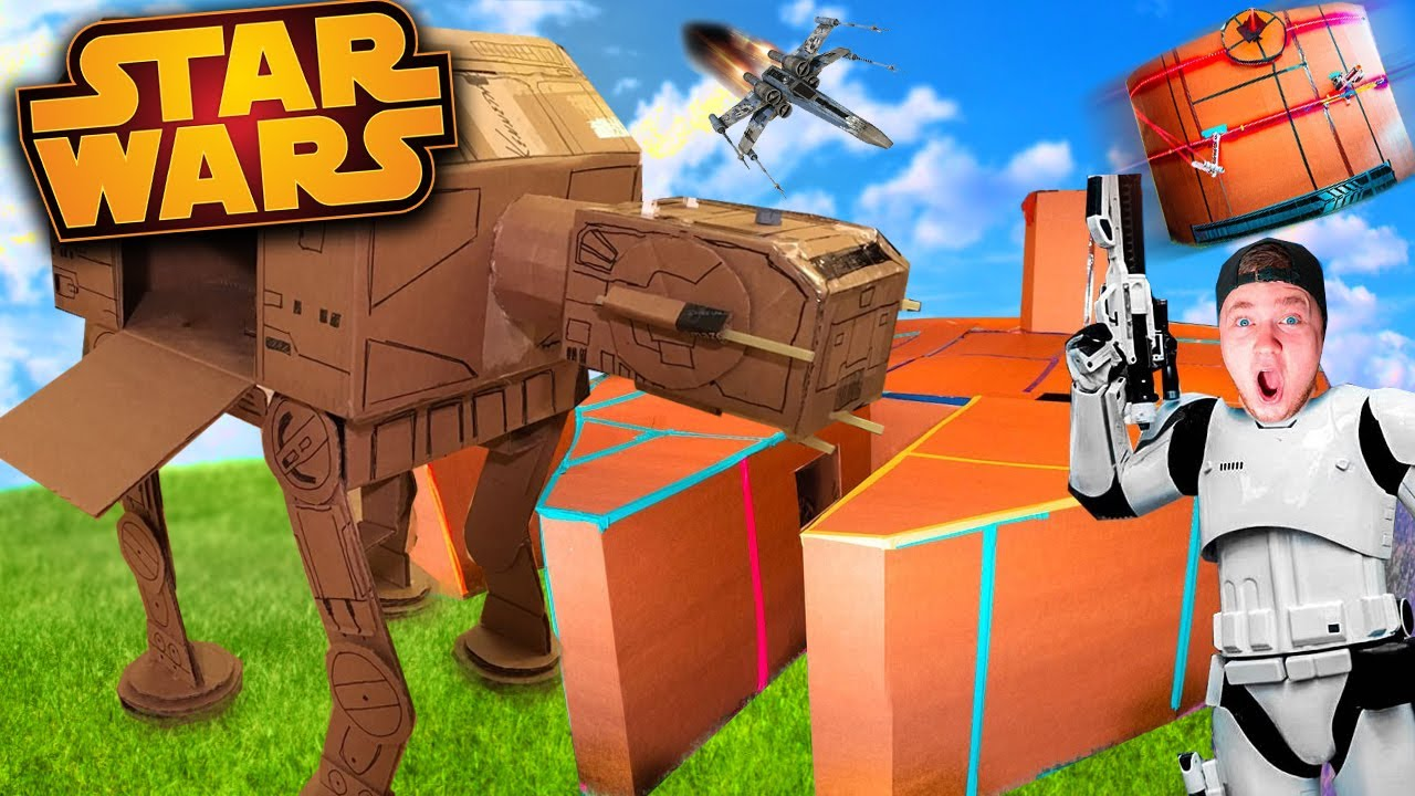 BOX FORT Star Wars The Movie! Building Mandalorian Ship, Death Star & More!