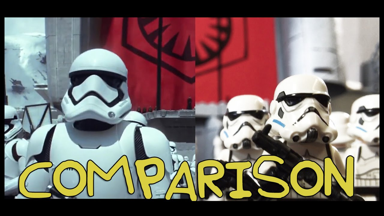 Star Wars: The Force Awakens Trailer- Homemade Side by Side Comparison